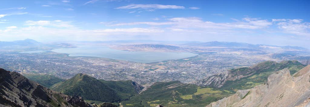 Utah Valley from Timp