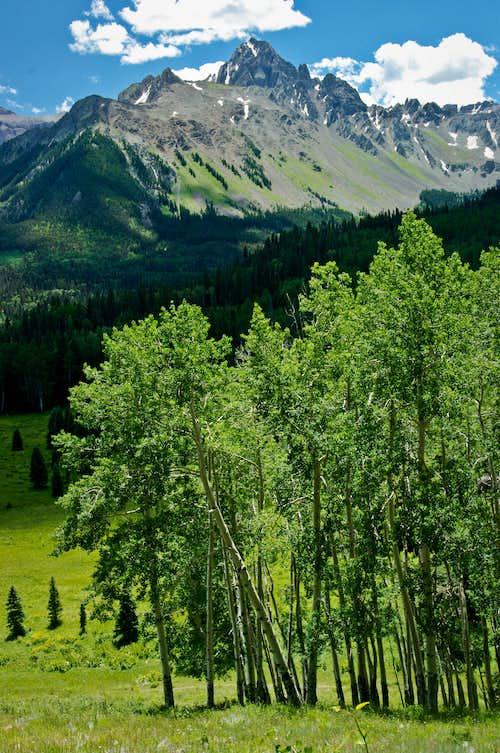 Mount Sneffels and Aspens