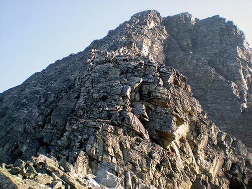 Uto Peak, SW Ridge, typical terrain