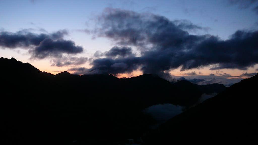 Evening at cabane de Moiry