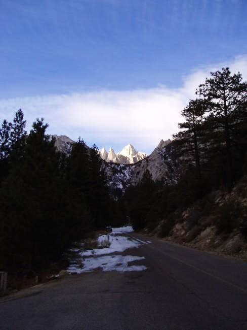 Mt. Whitney on a cold...