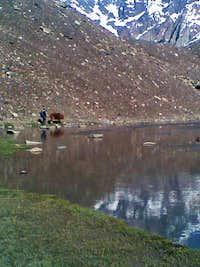 Natural Lake at Kotgaz (4250m)