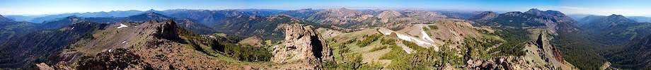 Arnot Peak Summit Panorama