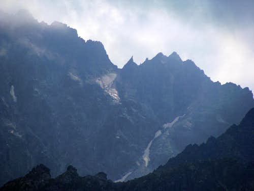 Zoom of High Tatras ridges