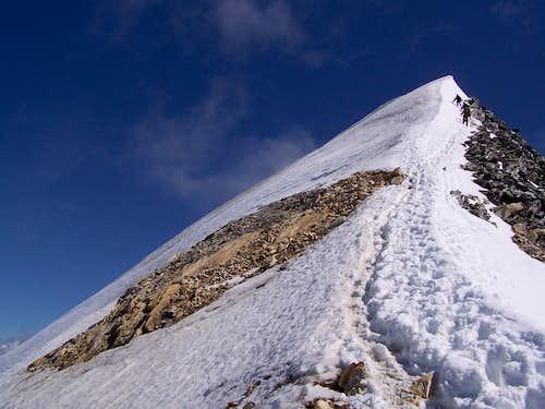 The last meters to the peak of Hochfeiler