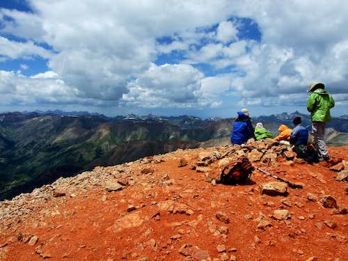 On Redcloud Peak