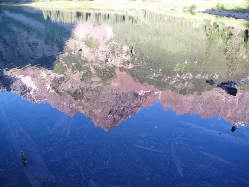 The Maroon Bells Reflected in Crater Lake