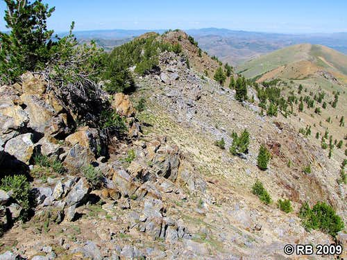 McAfee Peak route view