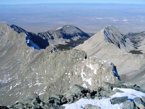From Blanca's summit, looking...