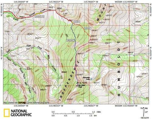 McAfee Peak access route (3/3)