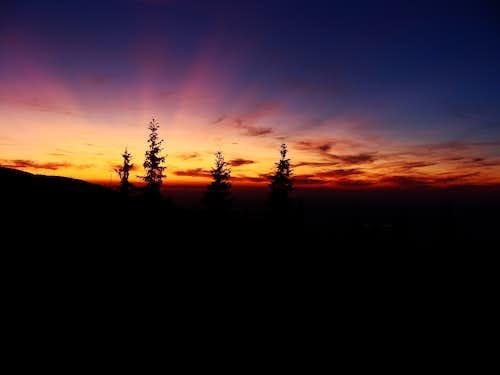 Sunset from Negoiu Hut
