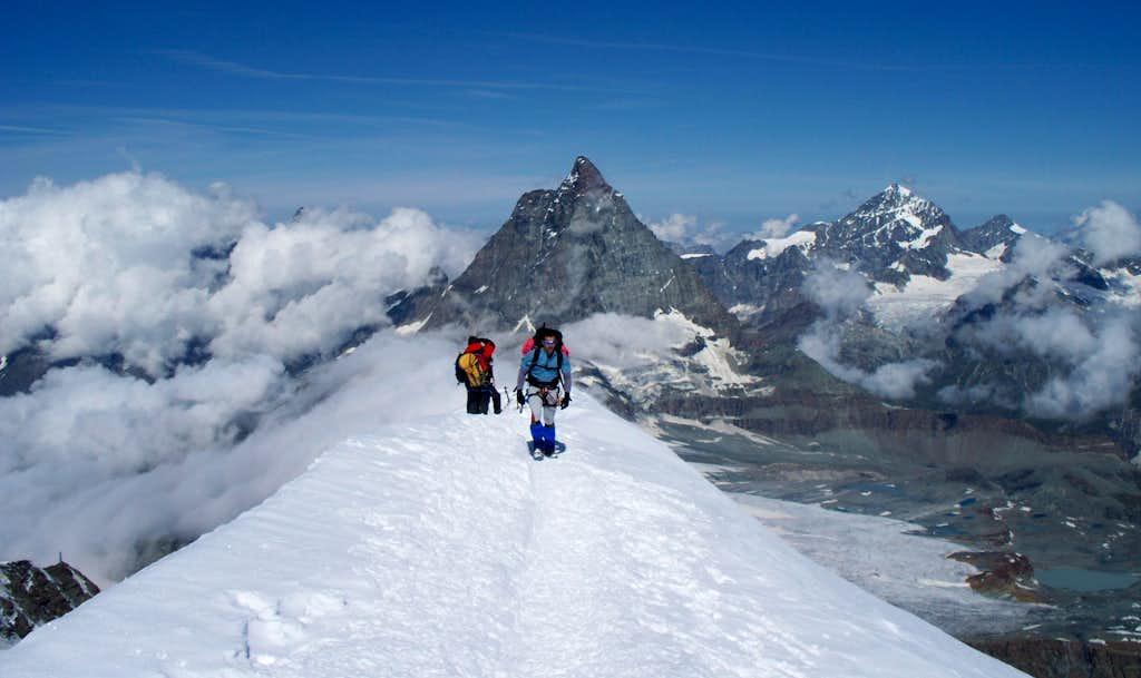 View down ridge