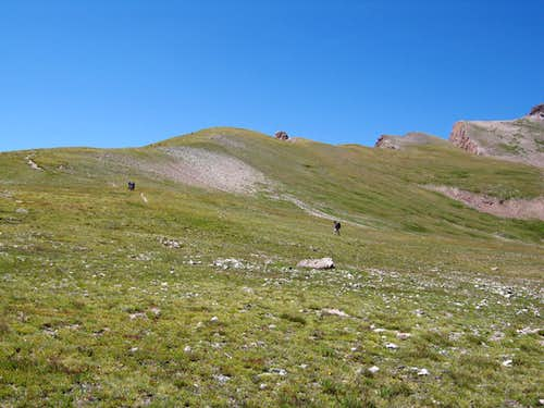 The very gentle slopes of Uncompahgre