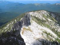 The North Ridge From the Summit
