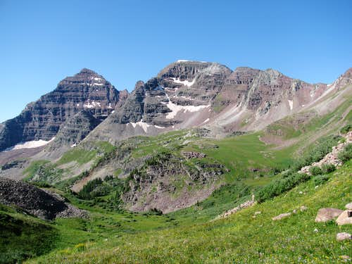 North Maroon Peak and The Sleeping Sexton