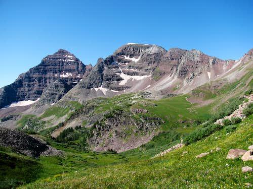 North Maroon Peak and The Sleeping Sexton