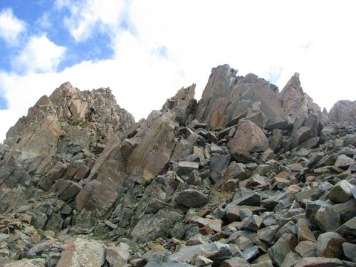 Talus on the SW Ridge