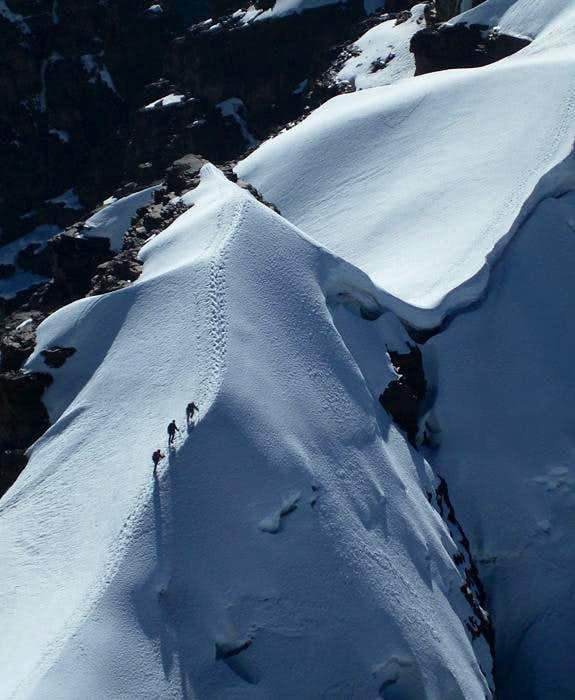 Climbing Pequeño Alpamayo, Bolivia