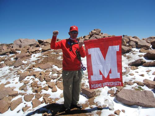 Reaching a Milestone on Pikes Peak
