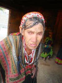 An old kalash woman