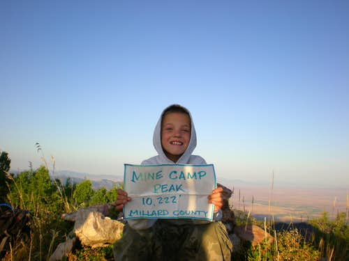 His first 10,000\' peak