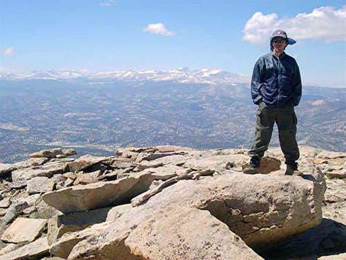 Miguel Forjan on the summit...