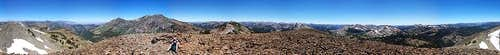 Tryon Peak Summit Panorama