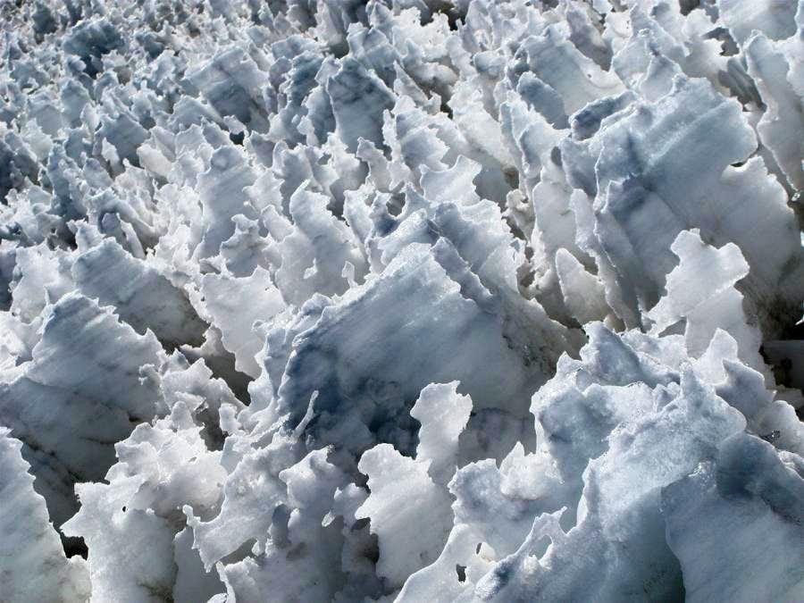 Penitentes, Nevado Sajama, Bolivia