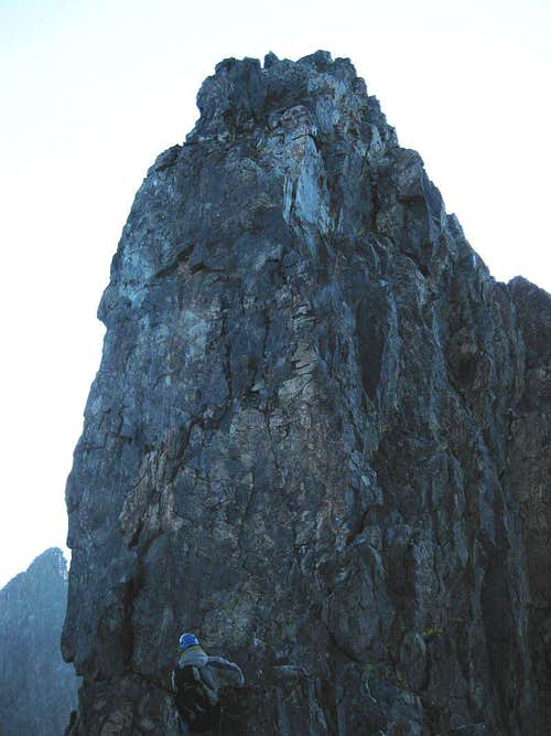 Summit of Clyde Minarete from SE face