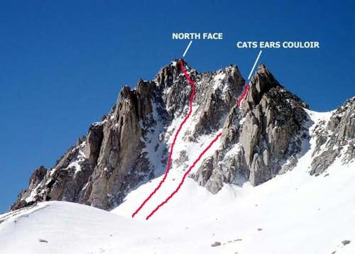 Mt. Dade / North Face route...