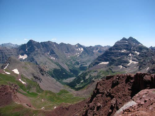 The Pyramid Massif and Maroon Bells