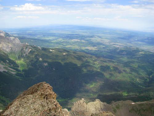 West from Sneffels Summit