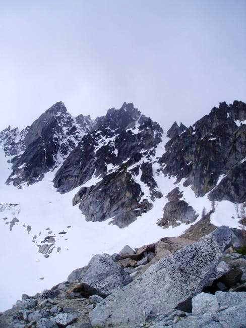 The North Buttress Couloir is...