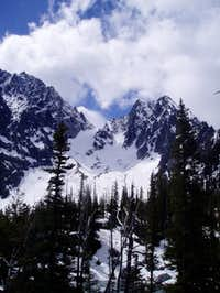 Dragontail and Colchuck Peaks...