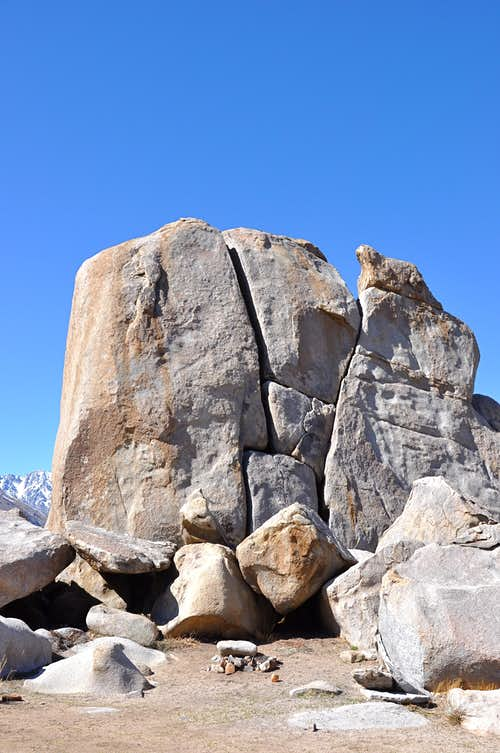 South face of Y-Boulder
