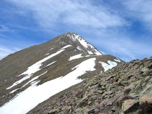 Horn Peak\'s summit from the...