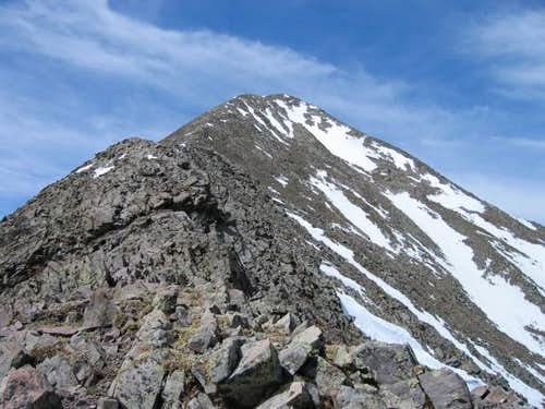 Horn Peaks summit from the...