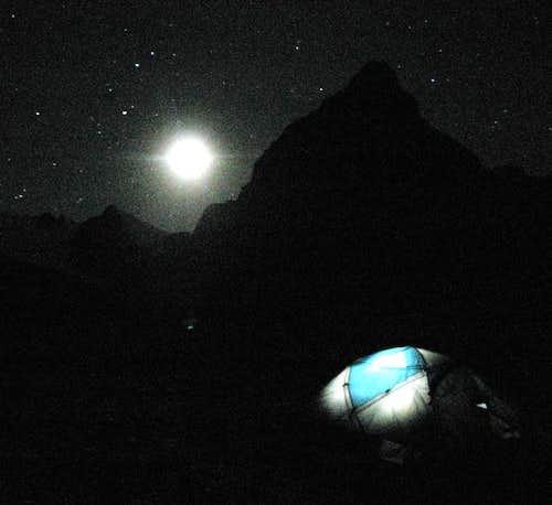 Moonlit Condoriri Base Camp, Bolivia