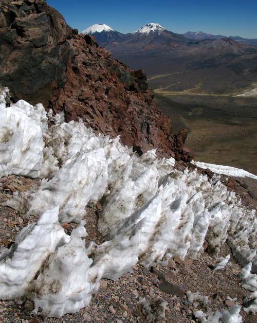 Penitentes and The Twins, From Sajama, Bolivia