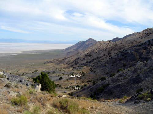 Desert Peak - western approach