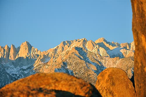 Keeler Needle, Mt. Whitney, Mt. Carillon & Mt.Russell
