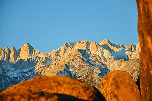 Keeler Needle, Mt. Whitney, Mt. Carillon & Mt.Russell