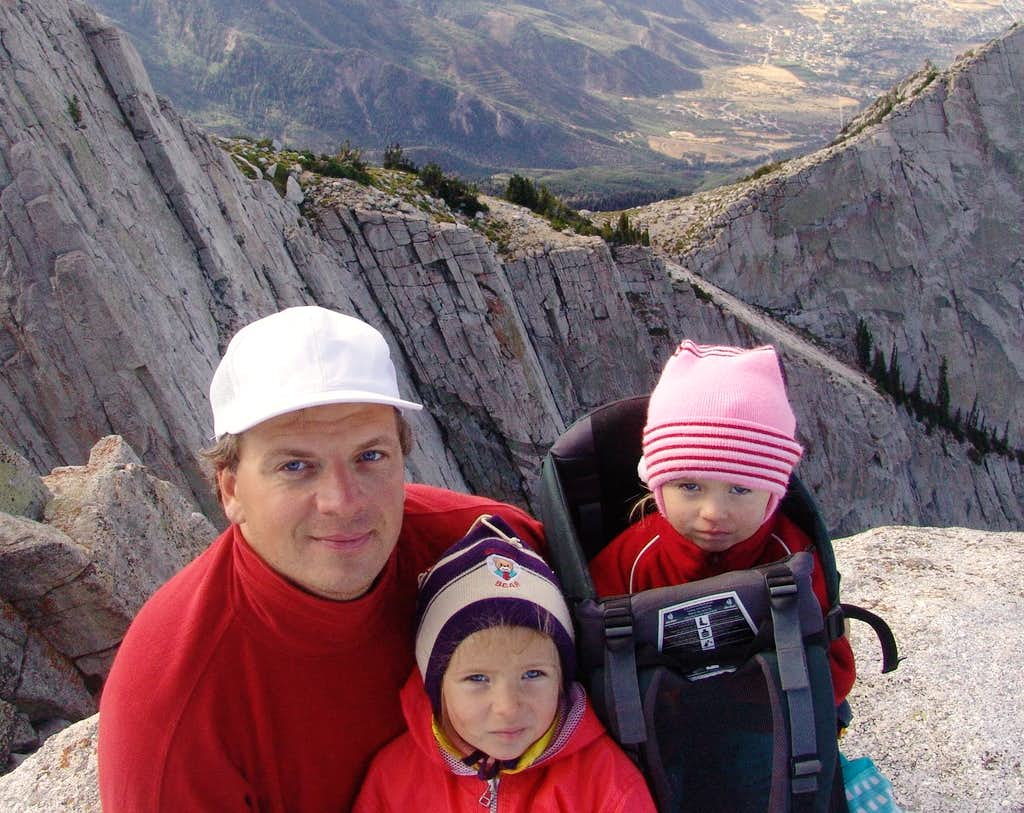 Rostislav with children on Lone Peak, Utah_07