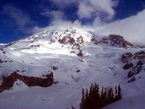 Looking up Nisqually Glacier...