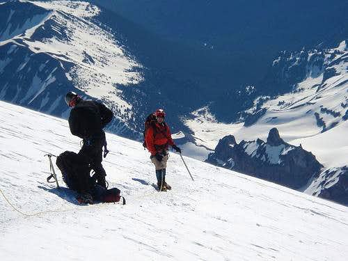 Gear change on Rainier