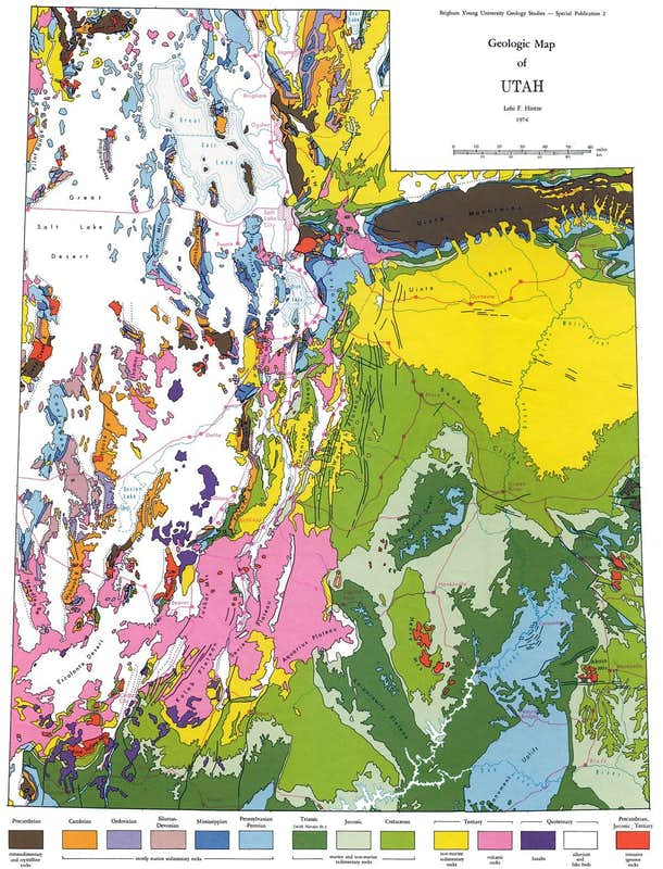 Utah Geologic Relief Map  Photos Diagrams Amp Topos
