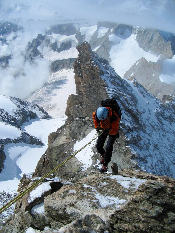 Descending the upper slabs