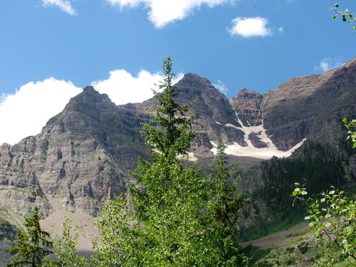 Pyramid Peak from East Maroon Creek