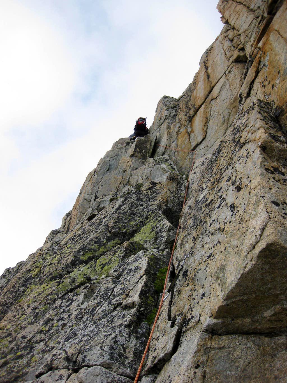 Climbing the SE-spur