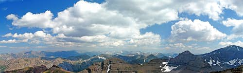 South pano from